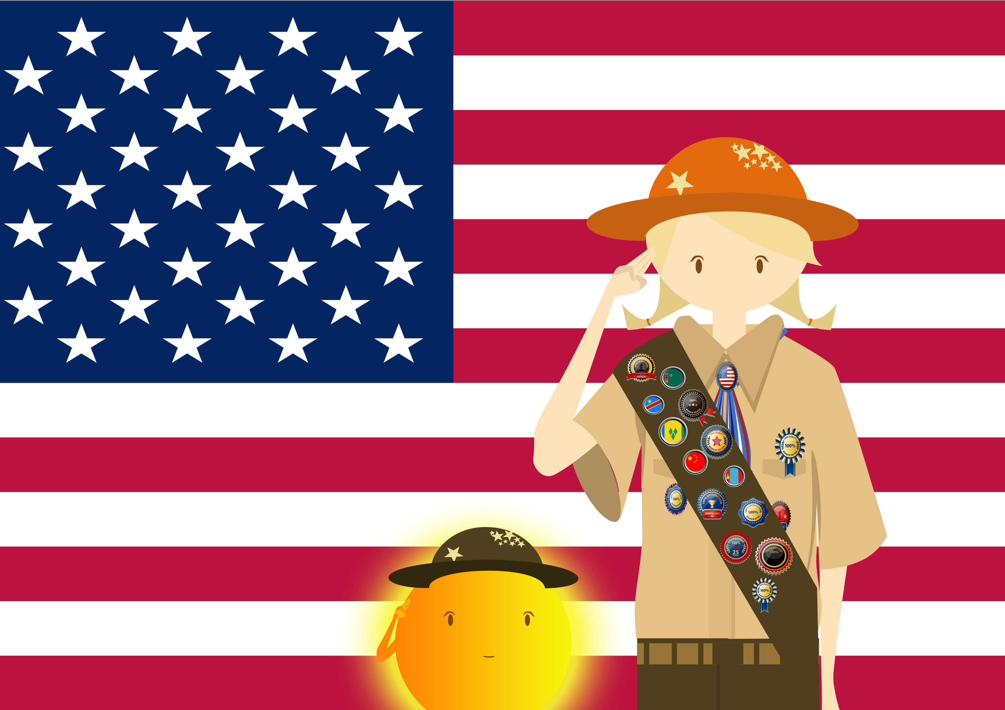 美国旗帜壁纸1080p